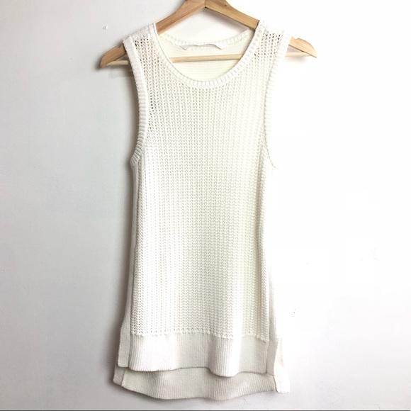0788a977ab3384 Athleta Tops - Athleta• White crochet knit sleeveless tunic top